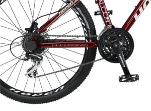 "26"" 24sp, Dark Red New Fashion Aluminum Mountain Bike pictures & photos"