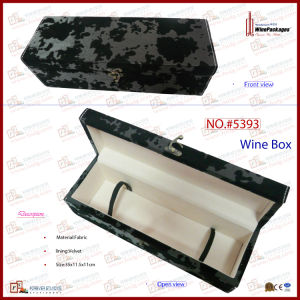 Single Bottle Retro Style Pattern Fabric Wine Box (5393) pictures & photos