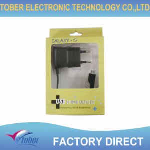 Black Color PC Material Travel Charger for Samsung I9000