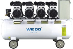 1.1kw 100L Tank Oilless (oil-free) Air Compressor pictures & photos