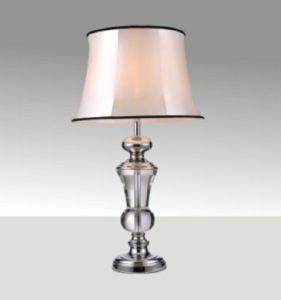 Phine 90170 Clear Crystal Table Lamp with Fabric Shade pictures & photos