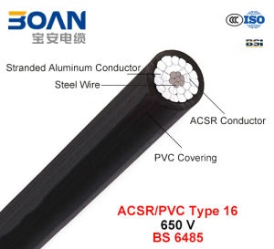 ACSR/PVC Type 16, PVC Covered Conductors for Overhead Power Lines, 650 V (BS 6485) pictures & photos