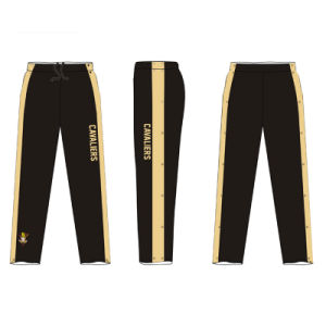 Black Warm up Basketball Pants with Health Fabric 280gms pictures & photos