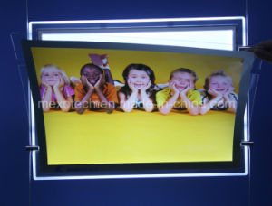 Magnetic Open Crystal Acrylic LED Light Box Advertising Display pictures & photos