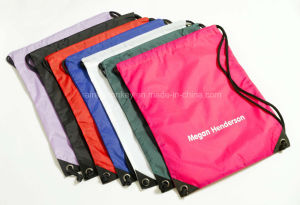 Colorful Promotional Polyester Custom Fabric Shopping Drawstring Bag pictures & photos