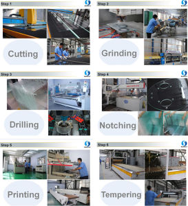 Manufacturer Best Price 4mm Tempered Glass for Oven Door pictures & photos