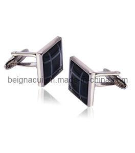 Silver Black Enamel Cufflinks (WSXFS01897) pictures & photos