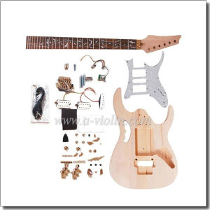 Double Locking System Unfinished DIY Electric Guitar Kits (EGH400-W) pictures & photos