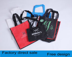Customized Woven Portable Non-Woven Bags, Sewing a Shopping Bag pictures & photos