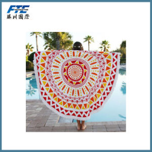 Round Beach Towel Microfiber Custom Printed pictures & photos