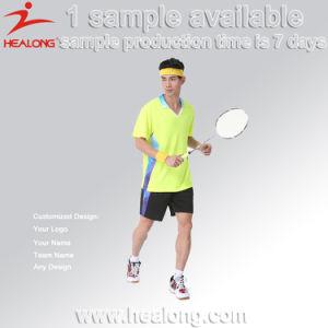Healong No MOQ Sportswear Dye-Sublimation Printing Badminton Jersey pictures & photos