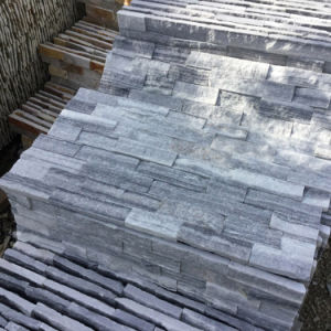 Natural Gray Marble Stacked Stone Wall Panels (SMC-SCP430) pictures & photos