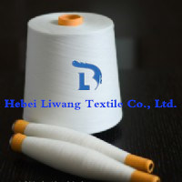 Polyester Spun Yarn Raw White for Weaving and Knitting 30s