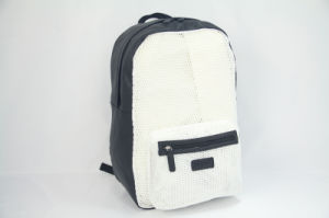 Fashion White Backpack with PU Trim for Travelling Outside (BS-128) pictures & photos