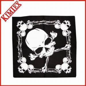 100% Cotton Reactive Printing Skull Bandana (kimtex-407) pictures & photos
