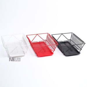 Tableware Kitchen Utensil Drying Rack Stainless Steel Dish Rack with Plastic Tray