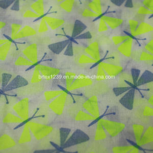 100%Cotton Voile Fabric for Apparels with Dragonfly Printed (60X60/90X88)