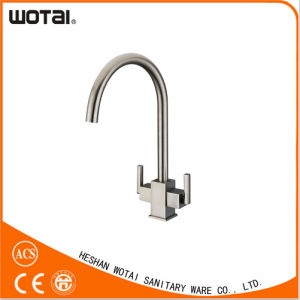 Dual Handle Swivel Kitchen Tap Sink Water Tap (WT1002BN-KF) pictures & photos