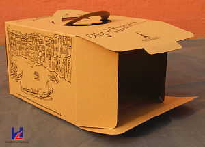 Cheap Carboard Cake Packing Box pictures & photos