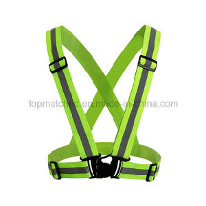 Elastic Series Sport Cycling Running Reflective Safety Vest for Outdoor Sport pictures & photos