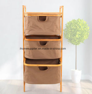 B9001 Bamboo Weaving Storage Shelf Storage Rack Drawing Shelf