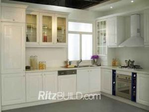 Home Kitchen Cabinet Antique Solid Wood Kitchen Furniture pictures & photos