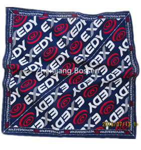 Custom Made Logo Printed Promotional Cotton Big Handkerchief Head Scarf pictures & photos