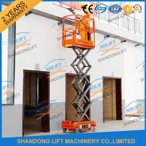 Electric Walking Indoor Scissor Lift Platform pictures & photos