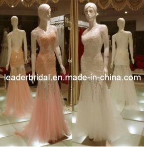 Sheer Tulle Seethrough A-Line Floor Length Evenning Dress Sh21010 pictures & photos