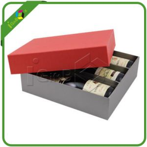 Custom Cheap Recycled Decorate Cardboard Rigid Wine Box with Divider pictures & photos