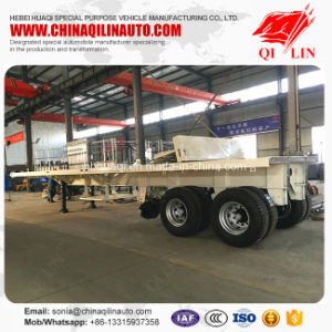 Cheap Price Flat Deck Semi Trailer for Container Transportation pictures & photos