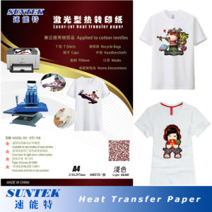 Forever Laser-Jet Heat Transfer Printing Paper for Light Color pictures & photos