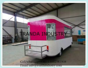 4 Wheels Mobile Van Food Caravan pictures & photos