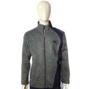 Men′s Zipper Print Plain Fleece Jacket pictures & photos