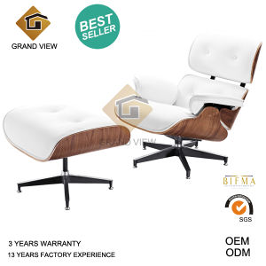 Classical Design Wooden Leather Chaise Lounge Chair (GV-EA670) pictures & photos