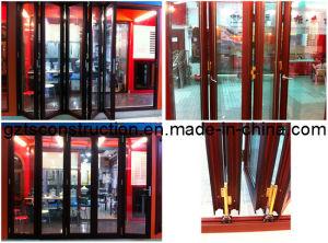 High Quality Double Glazed Energy Efficient Aluminium Folding Door (TS-005) pictures & photos