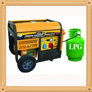 5000W Silent Small LPG and Gasoline Generator for Sale