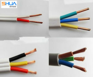 Cu Conductor PVC Insulated PVC Sheathed Wire, Double Insulated Flat Cable pictures & photos