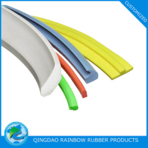 Custom Extruded Colorful Silicone Foam Strip
