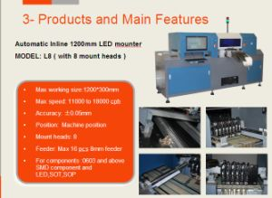 Inline 1200mm LED Chip Mounter, 1200mm Automatic LED Pick and Place Machine pictures & photos