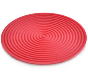 Heat Insulation Fashion Silicone Red Wine Coasters for Glass pictures & photos