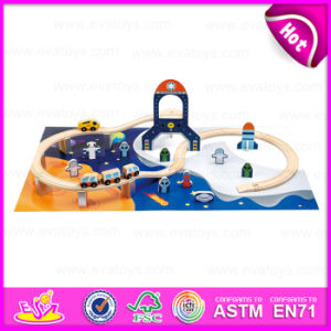 2015 Competitive Price Classic Train Set Toy, Popular Children Wooden Railway Set Toy, High Quality 40/S Wooden Train Set W04D011 pictures & photos