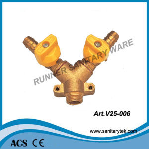 Brass Forged Y Type Gas Ball Valve (V25-006) pictures & photos