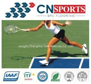 Factory Hot-Sale Rubber Tennis/Basketball/Badminton Spu Sports Flooring pictures & photos