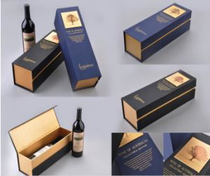 Flat Shipping Paper Cardboard Wine Bottle Package pictures & photos