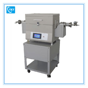 Touch Screen Two Zone Tilting Vacuum Tube Furnace for Calcining Inorganic Compound pictures & photos