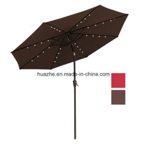 2.7m /9FT Round LED Garden Patio U Outdoor Umbrella with Solar LED Umbrella pictures & photos