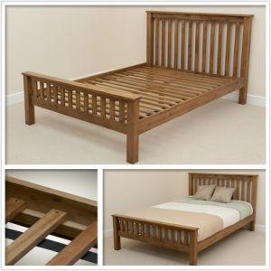 Solid Oak 4ft 6 Double Bed (HSRU-0023)