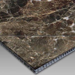 Light Emperador Marble and Aluminium Honey Comb Composite Panel pictures & photos