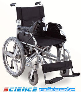 Foldable Steel Power Wheel Chair Sc-Ew07 pictures & photos